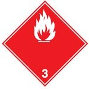 Знак маркировки грузов легковоспламеняющееся вещество Brady adr 4.1, 100x100 мм, b-7541, Самоклеющийся, Винил, 250 шт