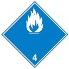 Знак маркировки грузов пероксидные органические соединения Brady adr 5.2, 100x100 мм, b-7541, Самоклеющийся, Винил, 250 шт