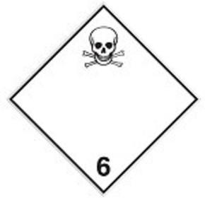 Знак маркировки грузов категория опасности 1.5 Brady adr 1.5,алюминиевая пластина, 297x297 мм, b-7525, 1 шт