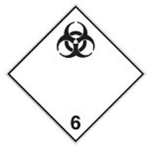 Знак маркировки грузов категория опасности 1.5 Brady adr 1.5rl, 100x100 мм, b-7541, Ламинация, Полиэстер, 250 шт