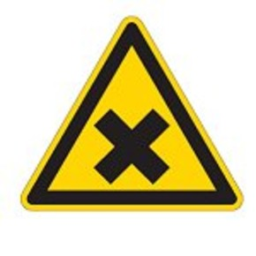 Знак безопасности запрещающий запрещается движение средств напольного транспорта Brady 100 мм, b-7541, Ламинация, pic 206, Полиэстер, 250 шт