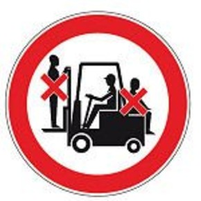 Знак безопасности запрещающий запрещается движение средств напольного транспорта Brady 25 мм, b-7541, Ламинация, pic 206, Полиэстер, 250 шт