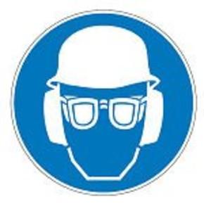 Знак безопасности предписывающий гудок Brady 100 мм, b-7541, Ламинация, pic 277, Полиэстер, 250 шт