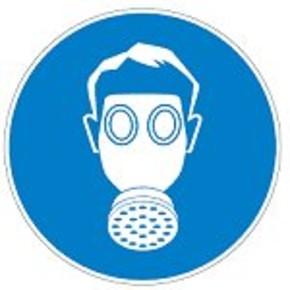 Знак безопасности предписывающий работать в защитных очках, наушниках и каске Brady 25 мм, b-7541, Ламинация, pic 264, Полиэстер, 250 шт