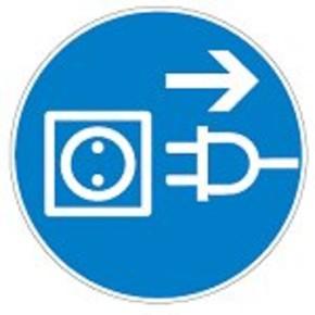 Знак безопасности предписывающий работать в страховочном поясе Brady 25 мм, b-7541, Ламинация, pic 273, Полиэстер, 250 шт