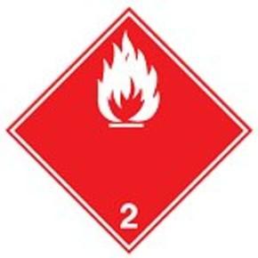 Знак маркировки грузов токсичный газ Brady adr 2.3,алюминиевая пластина, белый на красном, 297x297 мм, b-7525, 1 шт