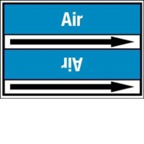 Стрелка для маркировки трубопровода Brady, белый на синем, «exhaust», 100x33000 мм, b-7529, 550 шт, 8 мм