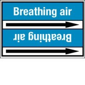 Стрелка для маркировки трубопровода Brady, белый на синем, «exhaust air», 100x33000 мм, b-7529, 550 шт, 8 мм