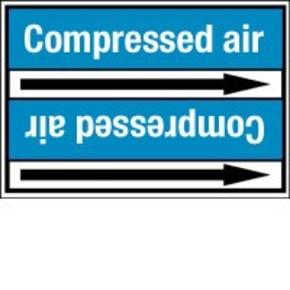 Стрелка для маркировки трубопровода Brady, белый на синем, «low pressure air», 100x33000 мм, b-7529, 550 шт, 8 мм