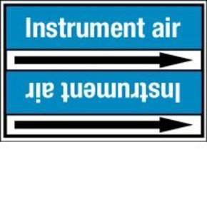 Стрелка для маркировки трубопровода Brady, белый на синем, 40-83 мм, «pressurized air», 37x284 мм, b-7529, 3 шт, 20 мм