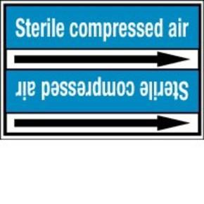 Стрелка для маркировки трубопровода Brady, белый на синем, «vent», 100x33000 мм, b-7529, 220 шт, 13 мм