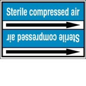 Стрелка для маркировки трубопровода Brady, белый на синем, «ventilation air», 100x33000 мм, b-7529, 550 шт, 8 мм