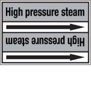 Стрелка для маркировки трубопровода Brady, черный на сером, 40-83 мм, «low pressure steam», 37x284 мм, b-7529, 3 шт, 20 мм