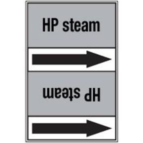 Стрелка для маркировки трубопровода Brady, черный на сером, «pure steam», 100x33000 мм, b-7529, 220 шт, 13 мм