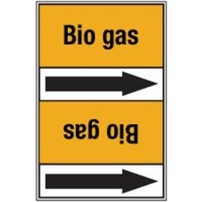 Стрелка для маркировки трубопровода Brady, черный на желтом, 25-27 мм, «carbon dioxide», 26x200 мм, b-7529, 3 шт, 12,5 мм