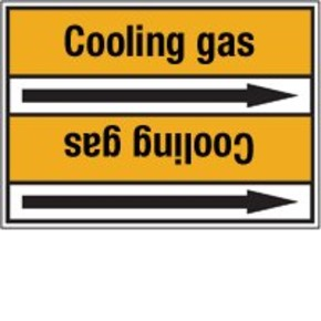 Стрелка для маркировки трубопровода Brady, черный на желтом, «fuel gas», 100x33000 мм, b-7529, 550 шт, 8 мм