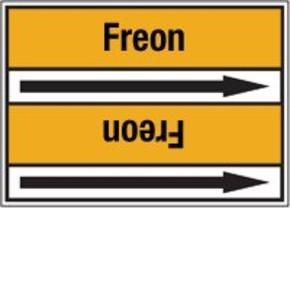 Стрелка для маркировки трубопровода Brady, черный на желтом, «heating gas», 100x33000 мм, b-7529, 550 шт, 8 мм