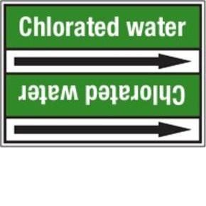 Стрелка для маркировки трубопровода Brady, белый на зеленом, «cold water return», 100x33000 мм, b-7529, 550 шт, 8 мм