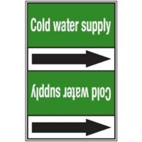 Стрелка для маркировки трубопровода Brady, белый на зеленом, 25-27 мм, «condensate water return», 26x200 мм, b-7529, 3 шт, 12,5 мм
