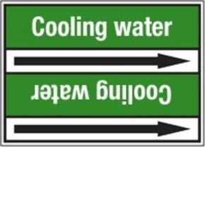 Стрелка для маркировки трубопровода Brady, белый на зеленом, «deionized water», 100x33000 мм, b-7529, 550 шт, 8 мм