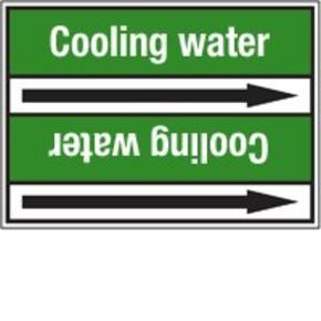 Стрелка для маркировки трубопровода Brady, белый на зеленом, 25-27 мм, «demineralised water», 26x200 мм, b-7529, 3 шт, 12,5 мм