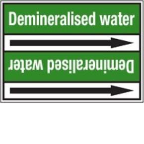 Стрелка для маркировки трубопровода Brady, белый на зеленом, 40-83 мм, «domestic hot water flow», 37x284 мм, b-7529, 3 шт, 20 мм