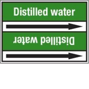 Стрелка для маркировки трубопровода Brady, белый на зеленом, 25-27 мм, «fresh water», 26x200 мм, b-7529, 3 шт, 12,5 мм