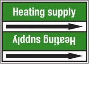 Стрелка для маркировки трубопровода Brady, белый на зеленом, «hot water», 100x33000 мм, b-7529, 550 шт, 8 мм