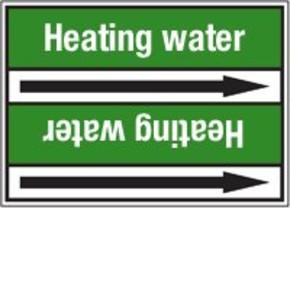 Стрелка для маркировки трубопровода Brady, белый на зеленом, «hot water», 100x33000 мм, b-7529, 220 шт, 13 мм