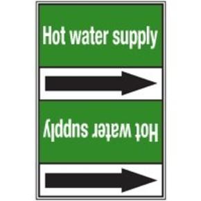 Стрелка для маркировки трубопровода Brady, белый на зеленом, 25-27 мм, «mains water», 26x200 мм, b-7529, 3 шт, 12,5 мм