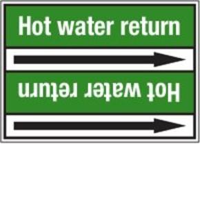 Стрелка для маркировки трубопровода Brady, белый на зеленом, «mains water», 100x33000 мм, b-7529, 550 шт, 8 мм