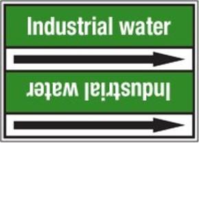 Стрелка для маркировки трубопровода Brady, белый на зеленом, 40-83 мм, «mineral water», 37x284 мм, b-7529, 3 шт, 20 мм
