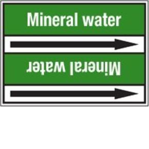 Стрелка для маркировки трубопровода Brady, белый на зеленом, «polluted water», 100x33000 мм, b-7529, 550 шт, 8 мм