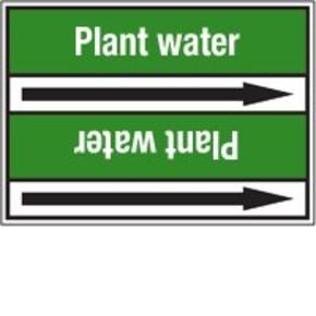 Стрелка для маркировки трубопровода Brady, белый на зеленом, 40-83 мм, «pure water», 37x284 мм, b-7529, 3 шт, 20 мм