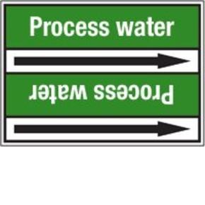 Стрелка для маркировки трубопровода Brady, белый на зеленом, «raw water», 100x33000 мм, b-7529, 220 шт, 13 мм