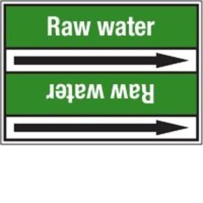 Стрелка для маркировки трубопровода Brady, белый на зеленом, «river water», 100x33000 мм, b-7529, 550 шт, 8 мм