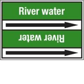 Стрелка для маркировки трубопровода Brady, белый на зеленом, «sanitary drain», 100x33000 мм, b-7529, 550 шт, 8 мм