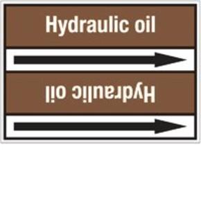 Стрелка для маркировки трубопровода Brady, белый на коричневом, 40-83 мм, «lubricating oil», 37x284 мм, b-7529, 3 шт, 20 мм