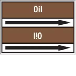 Стрелка для маркировки трубопровода Brady, белый на коричневом, 40-83 мм, «residue», 37x284 мм, b-7529, 3 шт, 20 мм