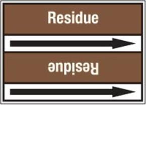 Стрелка для маркировки трубопровода Brady, белый на коричневом, «waste oil», 100x33000 мм, b-7529, 550 шт, 8 мм