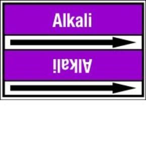 Стрелка для маркировки трубопровода Brady, белый на фиолетовом, «drain (alkali)», 100x33000 мм, b-7529, 550 шт, 8 мм