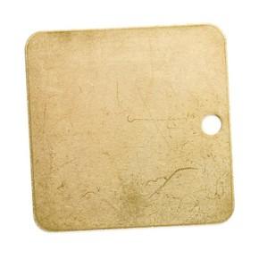 Бирка с предначертанием Brady бирки,ные, 6 букв и 4 числа, 38x38 мм, квадрат, латунь, 25 шт