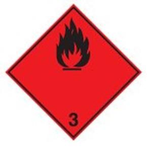 Знак маркировки грузов пероксидные органические соединения Brady adr 5.2, 200x200 мм, b-7541, Ламинация, Полиэстер, 1 шт