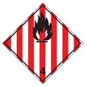 Знак маркировки грузов радиоактивно Brady adr 7d, 100x100 мм, b-7541, Ламинация, Полиэстер, 1 шт