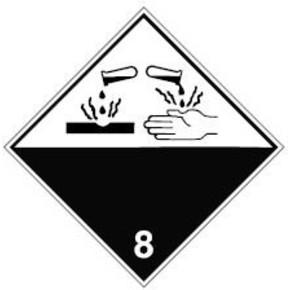 Знак маркировки грузов инфекционное вещество Brady adr 6.2, 297x297 мм, b-7541, Ламинация, Полиэстер, 1 шт