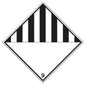 Знак маркировки грузов опасное вещество Brady adr 9, 297x297 мм, b-7541, Ламинация, Полиэстер, 1 шт