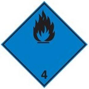 Знак маркировки грузов легковоспламеняющиеся жидкости Brady adr 3a,магнитный материал, 297x297 мм, b-859, 1 шт