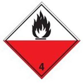 Знак маркировки грузов спонтанное самовозгорание Brady adr 4.2,алюминиевая пластина, 297x297 мм, b-7525, 1 шт
