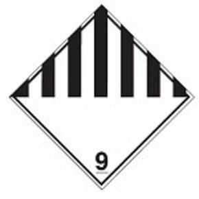 Знак маркировки грузов возгорание при намокании Brady adr 4.3,алюминиевая пластина, 297x297 мм, b-7525, 1 шт
