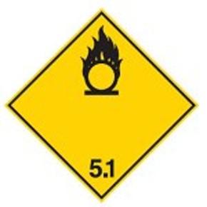 Знак маркировки грузов опасное вещество Brady adr 9,алюминиевая пластина, 297x297 мм, b-7525, 1 шт